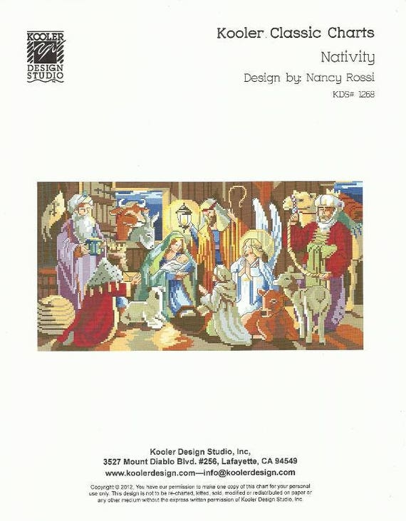 Nativity Christmas Cross Stitch Pattern From Kooler Design Etsy