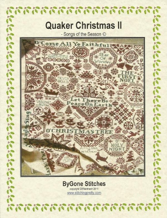 Quaker Christmas II Sampler Bygone Stitches Cross Stitch Pattern