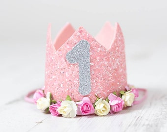 First birthday crown, birthday crown, cake smash prop, first birthday outfit, cake smash outfit, photo prop, birthday outfit, birthday hat