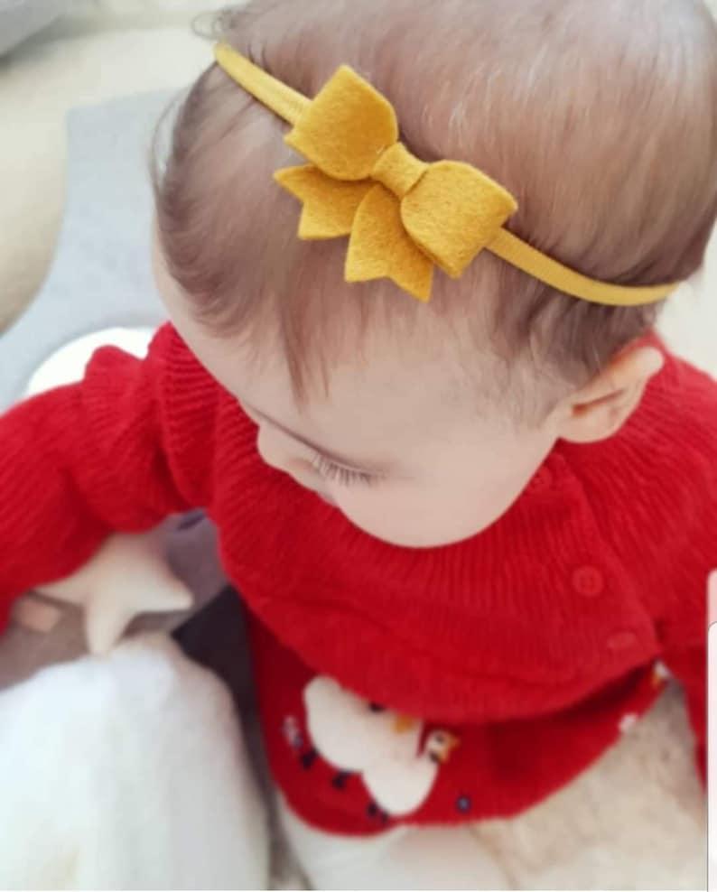 NavyMustard Baby headband set perfect for autumnfall newborns