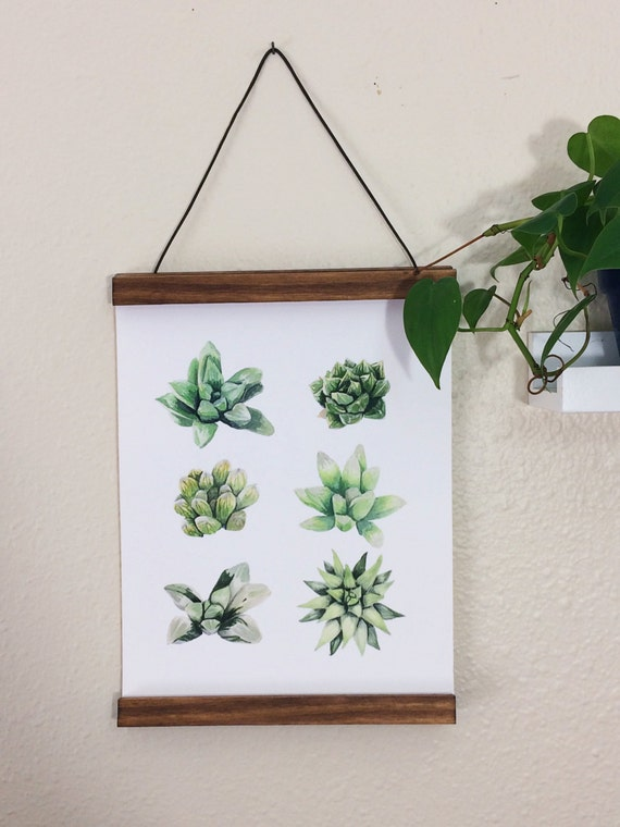 Succulent Love Limited Edition Print by Molly Mansfield
