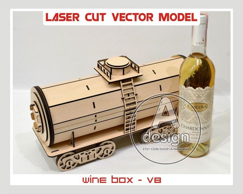 Wine Box Wood Wine Box Plywood Wine Box Vine Box Wine Gift Box Wine Holder Laser Cut Vector Plan Instant Download Cnc File Wbox 8
