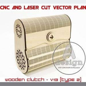 Clutch purse Handmade handbag Wooden bag Cnc file Silk clutch Plywood clutch Cl-29 Laser cut Clutch bag Wooden clutch Evening bag