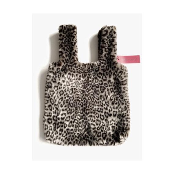 ee0aec6f5cb5 Faux Fur Bag Black Vegan Fur Pochette Unreal mink fur