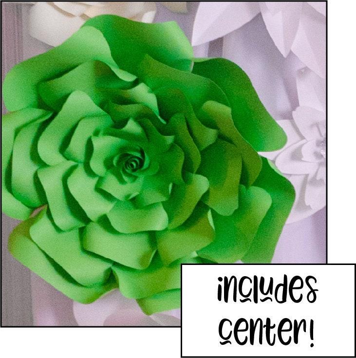 sale large paper flower wall svg    diy flower template    3d