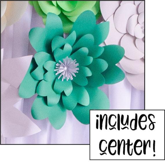 Sale large paper flower wall svg diy flower template 3d mightylinksfo
