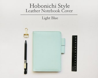FREE SHIPPING Hobonichi cover, Hobonichi planner cover, Light Blue Color, A6 size, A5 size, B6 size