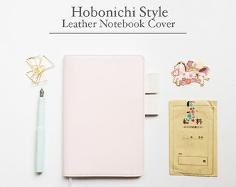 FREE SHIPPING Hobonichi cover, Hobonichi planner cover,Pink and white, B6 size, A5 size  Brushing Pink