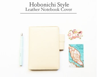 FREE SHIPPING Hobonichi cover, Hobonichi planner cover,Peach Color, A6 size, A5 size