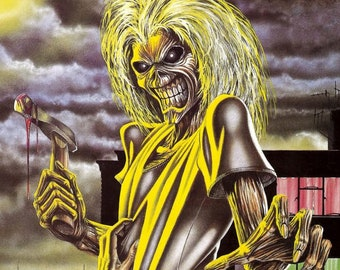 Killers 1981   ENAMEL Iron Maiden CERAMIC WALL SIGN