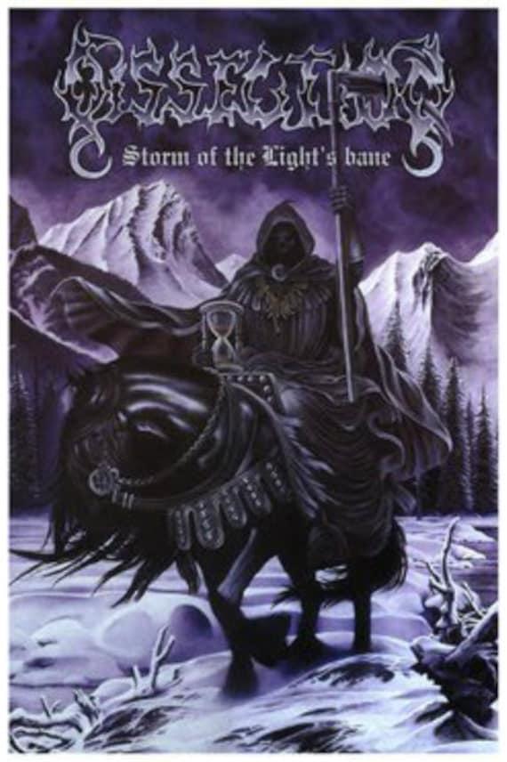 Dissection Storm of the Light/'s Bane poster album cover Black metal T Shirt all sizes S-5XL men/'s Black White
