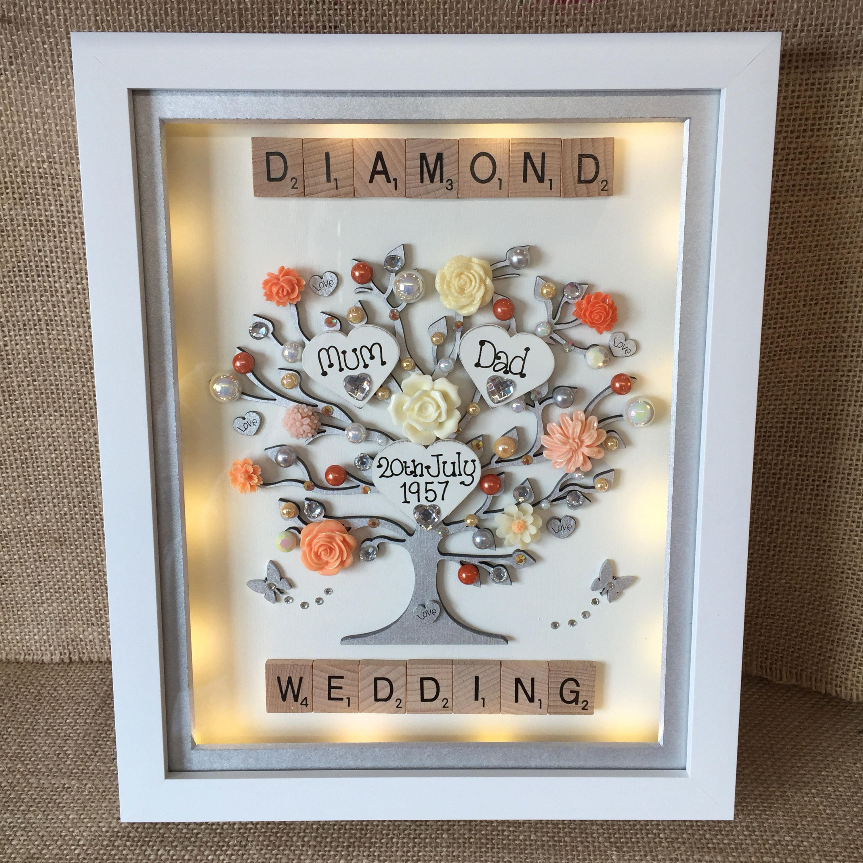 Wedding Anniversary List Of Gifts: LED Lit Deep Box Frame Perfect Wedding Or Anniversary Gift