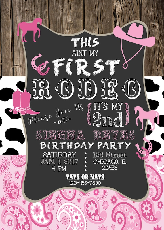 This Aint My First Rodeo Birthday Invitation