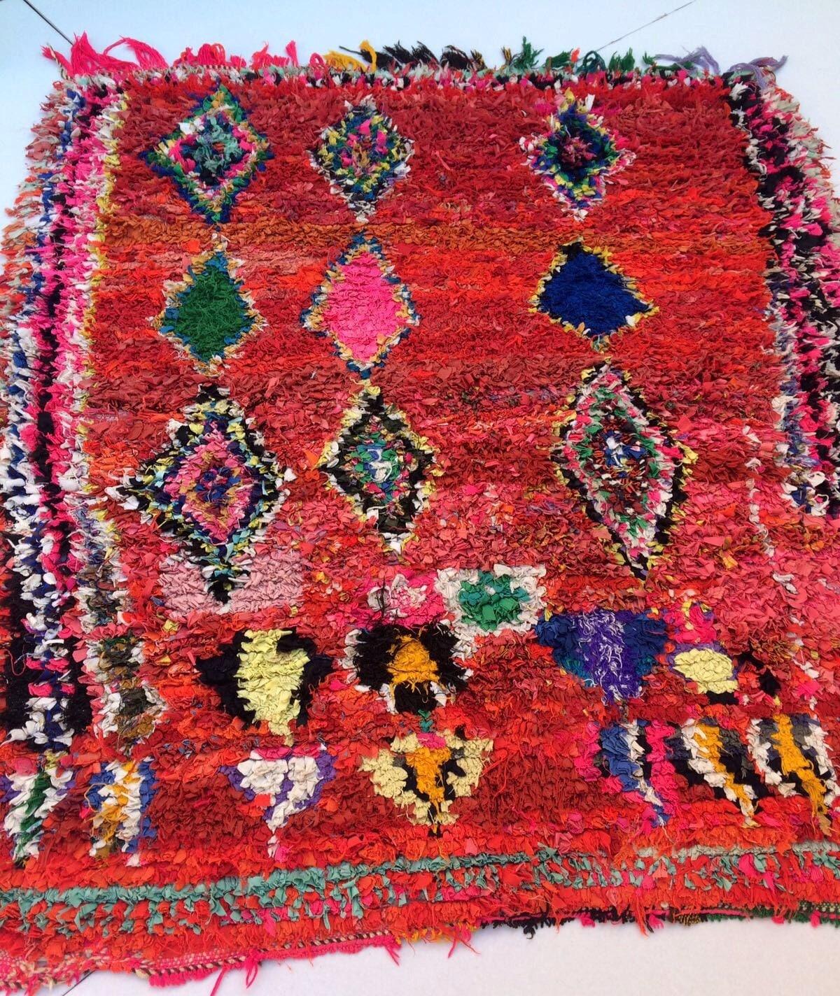 Boucherouite Rug-Moroccan
