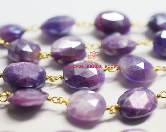 Fashion Jewelry Top Class Purple Amethyst Briolette Cut Quartz Silver Plated Long Chain Skilful Manufacture Jewelry & Watches