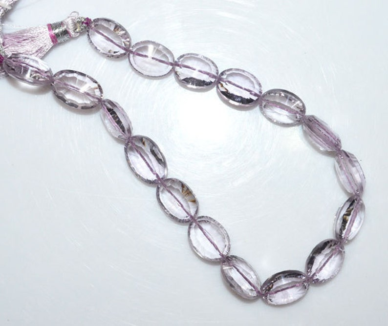11x9-12x9 mm 8 Pink Amethyst Concave Cut Briolette BL1454 Pink Amethyst Concave Cut Faceted Oval Shape Beads