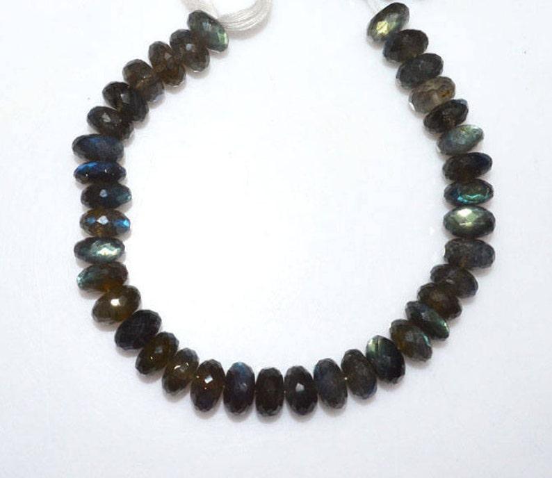 Labradorite Rondelle Beads MC452H Sold Per Strand Top Quality Labradorite Faceted Rondelle Beads 11 mm 9
