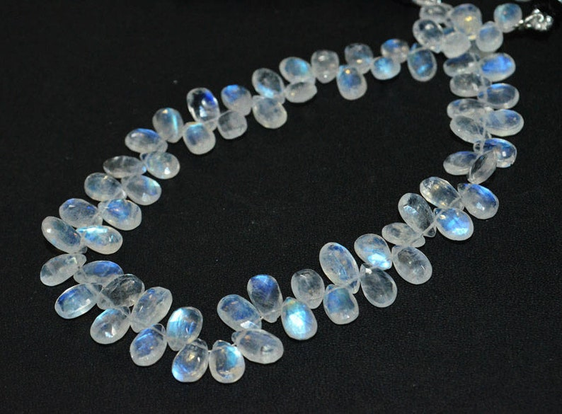 Brand New Rainbow Moonstone Faceted Pear Shape Briolette Pear Shape Briolette 5.50x7.50-6x10 mm Sold By Strand BL3855 10