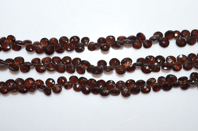 5.5x5.5-6.5x6.5 mm BL1702 1 Strand Natural Zircon Heart Shape Beads 7.5 Natural Zircon Faceted Briolette