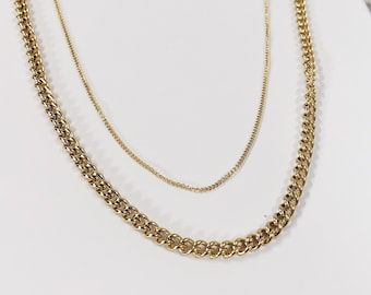 2fdcf044ecd9 Layered Necklace in Gold Colour   Double Row Necklace Stainless Steel