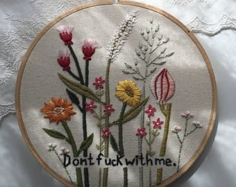 Don't Embroidery Hoop