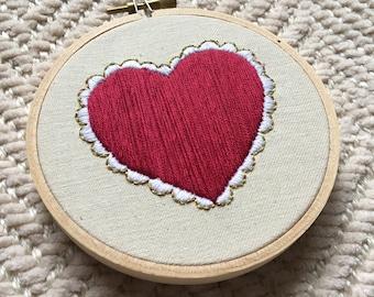 Sweetheart Embroidery Hoop
