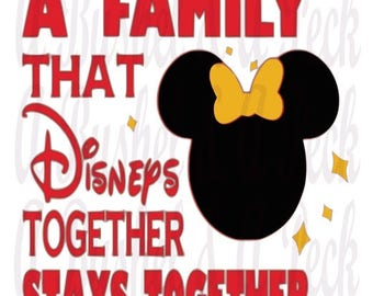 MInnie and Mickey A Family That Disneys Together Stays Together Bundle