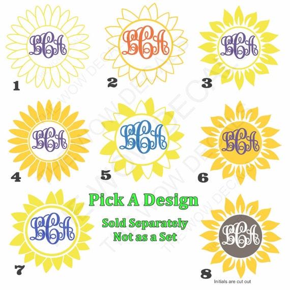Flowers Pick Your Color Vinyl Car Window Sticker Cutout