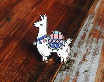 Alpaca Adventures // Hard Enamel Lapel Pin