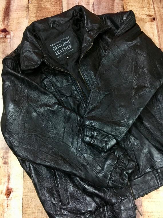 Patchwork Leather Jacket