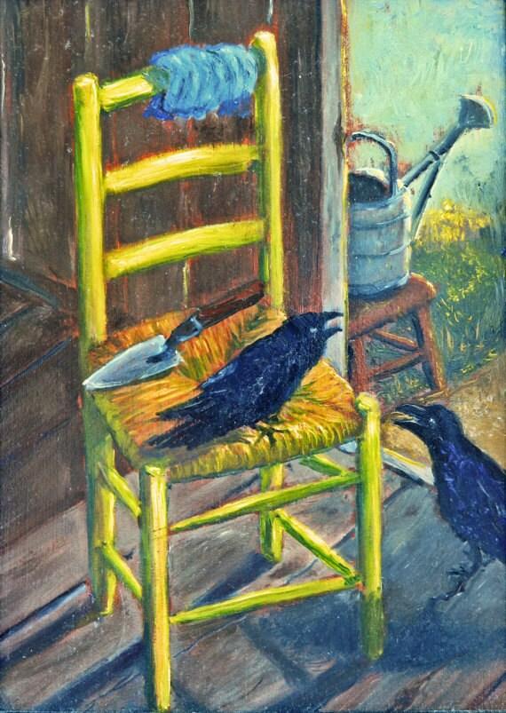 Van Gogh Chaise REPRODUCTION Peint La Main Lhuile Les