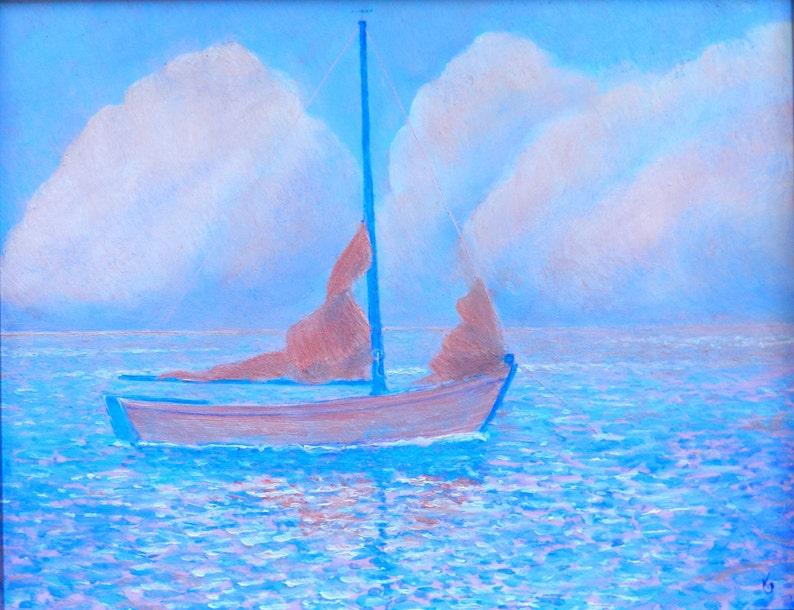 63f435a1854 Voilier de peintures impressionniste peintures de bateaux à
