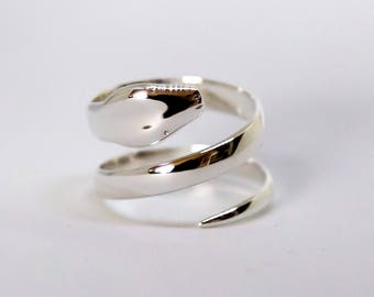 Snake ring, Sterling Silver 925/1000 - custom