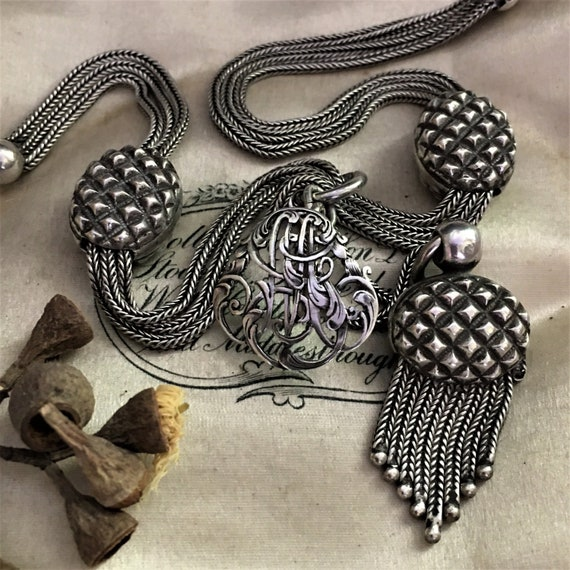 antique french victorian albertina necklace triple