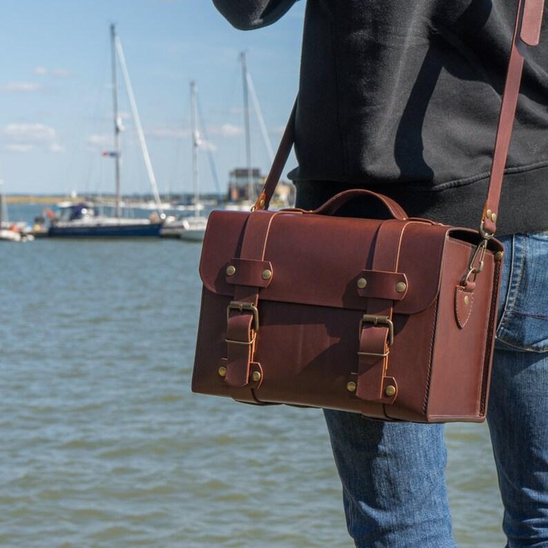 The Explorer Box Bag Vintage Leather Bag Leather Toolbox  de76bdf04dab0