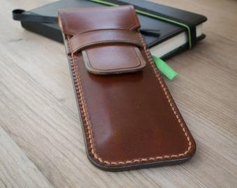 Leather Pencil Case - Handmade Leather Pencil Case, Leather Pen Case