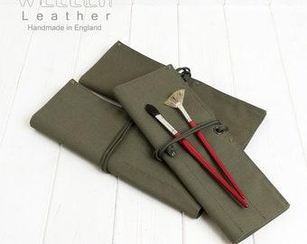 Paintbrush wallet, Paintbrush Holder, Paintbrush Roll, Paintbrush Storage, Tool Holder, Heavy Duty paint brush holder