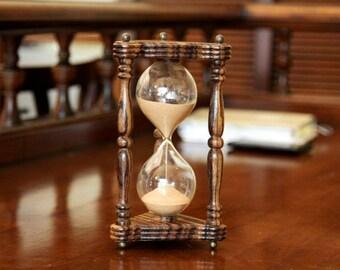 Zebrano wood hourglass/Sand ceremony/Wedding/Sandglass/Sand timer/Men's gift/Sand clock