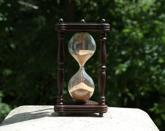 Hourglass, Sand glass, Sand ceremony hourglass, Sand clock, Sand timer, Rustic home décor, Vintage style interior detail