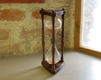 Zebrano wood hourglass/Hourglass/Home decor/Vintage style /Sandglass/Sand timer/Men's gift/Sand clock