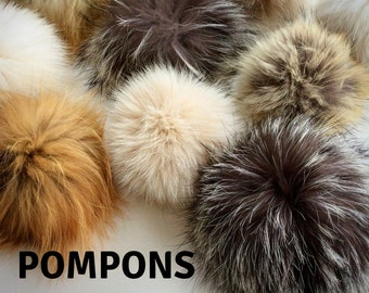 Recycled fur PomPoms