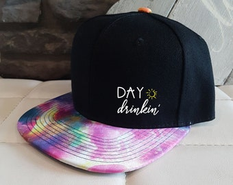 Adult hat - Day drinking hat - snapback - trucker hat - custom - summer -  kids hat - camping hat - unisex - gift for kids - hipster -galaxy a1f670244fac