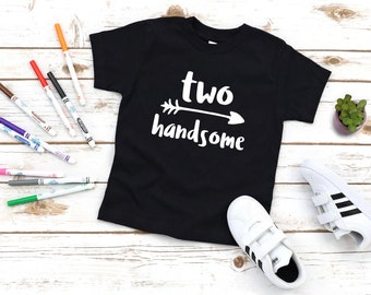 Two handsome - 2nd bday - birthday shirt - birthday party - graphic tee - funny shirt - second birthday - kids clothes - party - baby boy