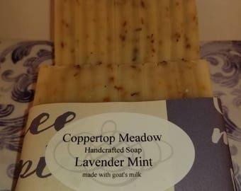 Lavender Mint goats milk soap