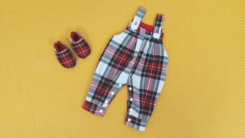58bef7ebc Dungarees Baby Red Tartan Toddler White Kids