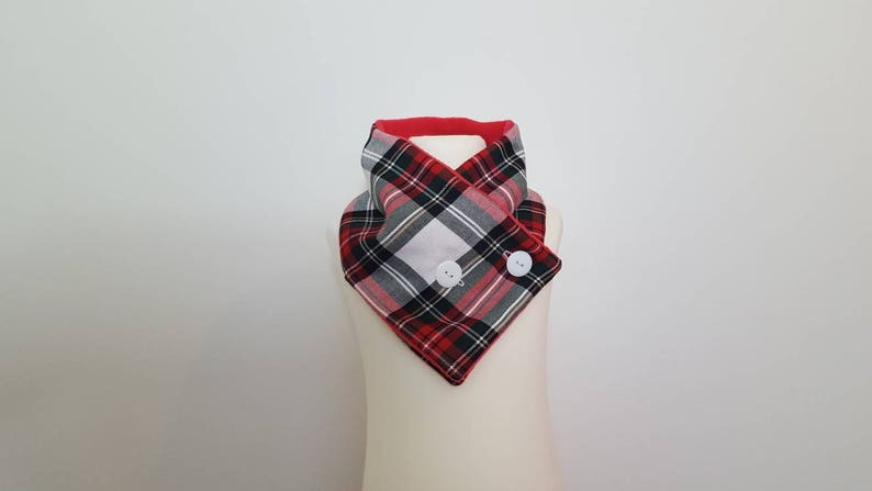 bff5a38ef Kids scarf Tartan Scarf White scarf Red fleece White Red