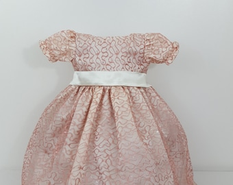 Dress girl - Party dress -  Pink dress -  Baby girl dress -  Party girl dress - Cute girl dress - Baby clothes - Light coral - Coral dress