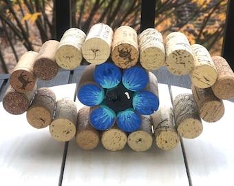 Wine Cork Eye, Desktop Art, Ophthalmic Tech Gift, Wine Lover Gift, Wine Cork Art, Ophthalmology Gifts, Optician Gift, Ophthalmology Art