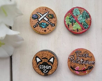 My Favorite Murder Magnet Set of 4, Cork Magnets, Refrigerator Magnets, Eco friendly Gifts for Her, MFM Magnets, SSDGM, True Crime Magnet