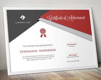 curve corporate business certificate template for ms word etsy